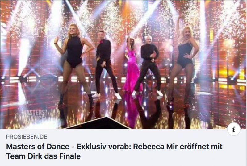 MASTERS OF DANCE, EXKLUSIV OPENING Staffel 1 • Episode 5 • 10.01.2019 • 20:15 -SUPER SHOW